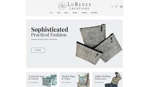 Ecommerce Website Design LuRenee Creations