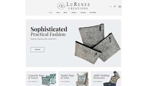 Ecommerce Website Design LuRenee Creations